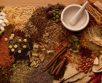 Chinese traditional medicine concept